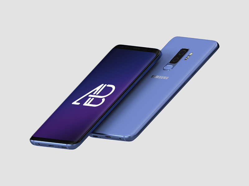 Floating Samsung Galaxy S9 Plus Mockup by Anthony Boyd Graphics