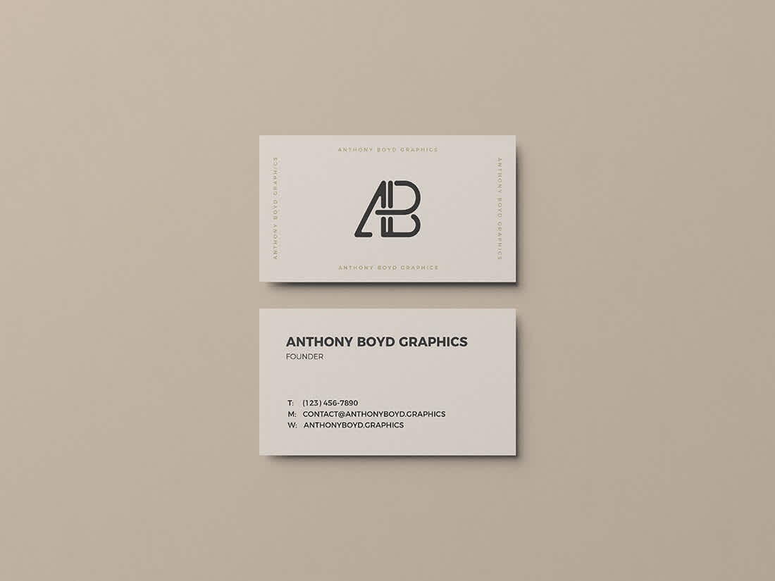 Business Card Mockup Vol.3 by Anthony Boyd Graphics