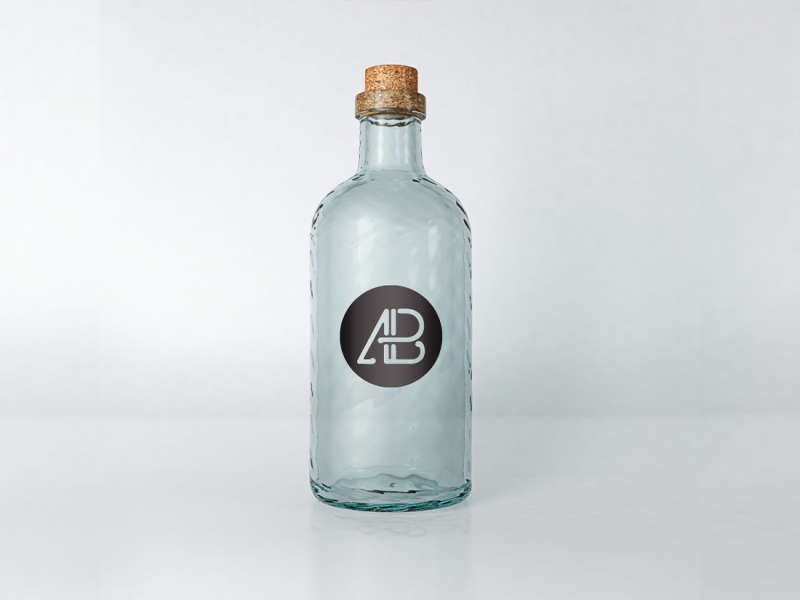 Realistic Glass Bottle Mockup by Anthony Boyd Graphics