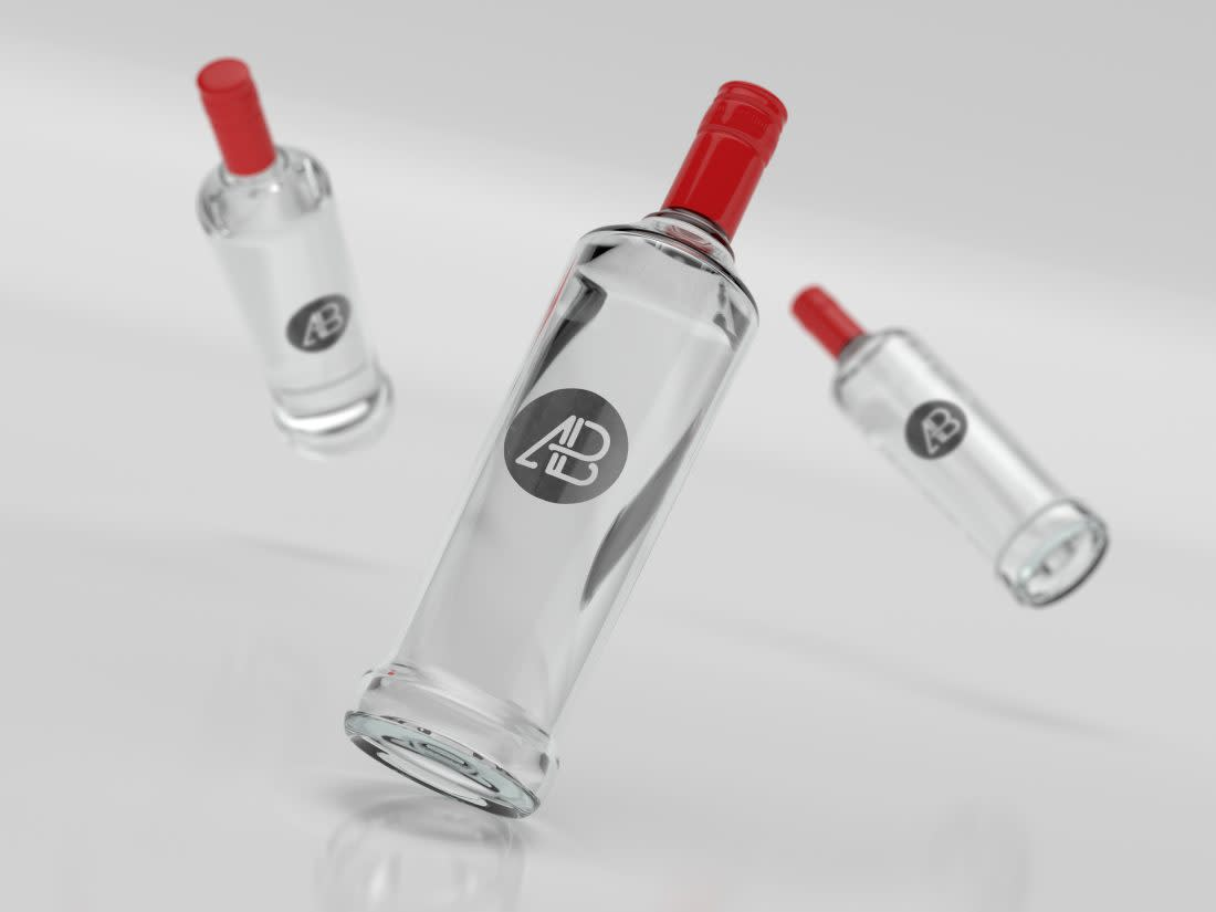 Realistic Vodka Bottle Branding Mockup by Anthony Boyd Graphics