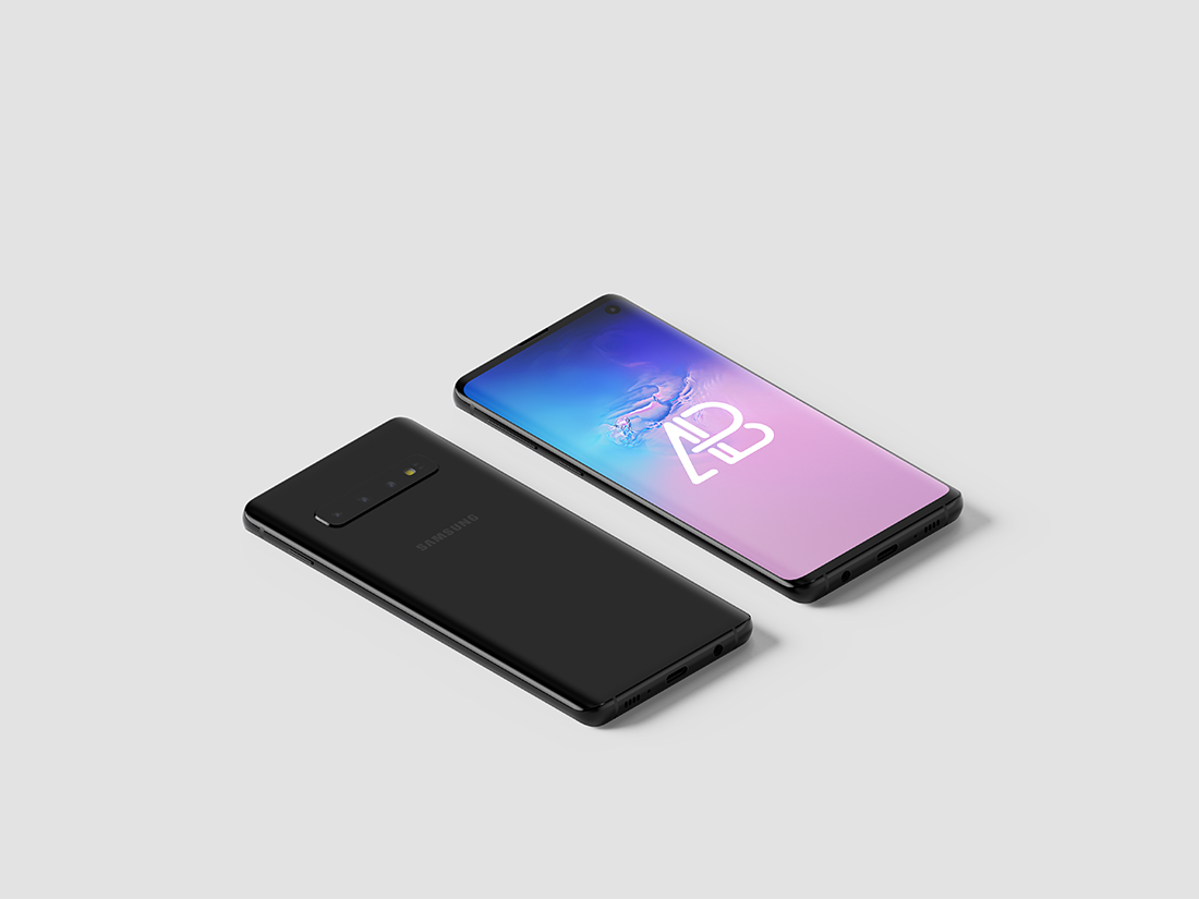 Samsung Galaxy S10 Isometric Mockup Vol.2 by Anthony Boyd Graphics