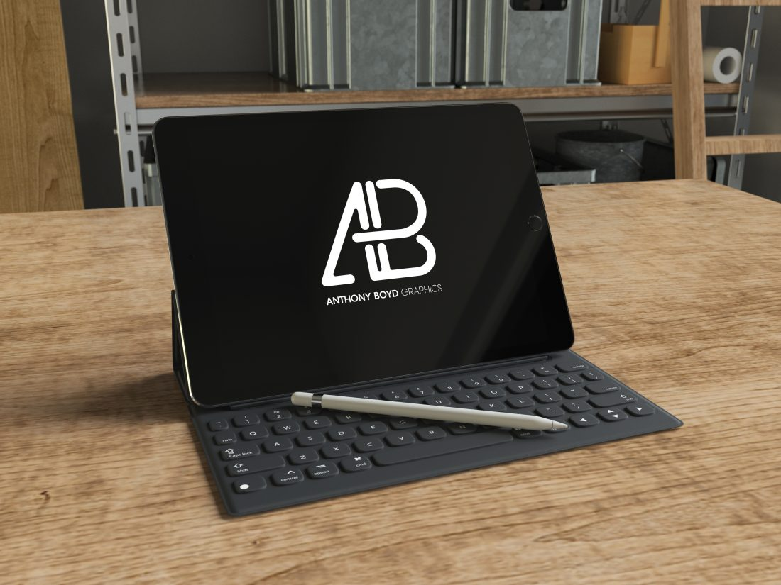 Realistic iPad Pro 9.7 Inch Mockup Vol.1 by Anthony Boyd Graphics
