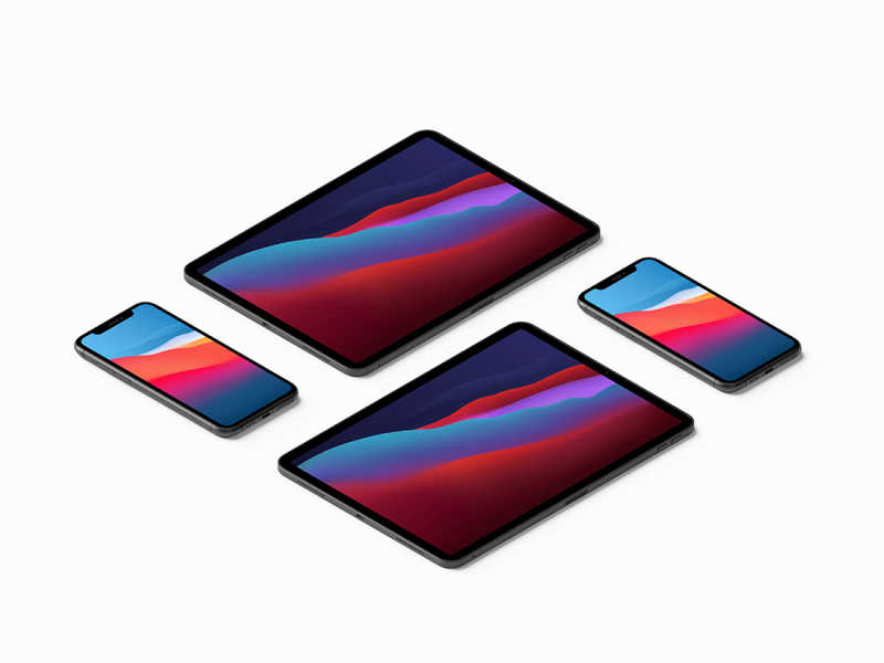iPhone 11 Pro Max and iPad Pro Mockup #2 by Anthony Boyd Graphics