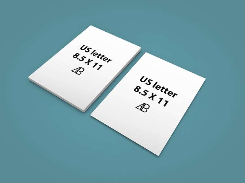 Realistic US Letter Paper Mockup Vol.2 by Anthony Boyd Graphics