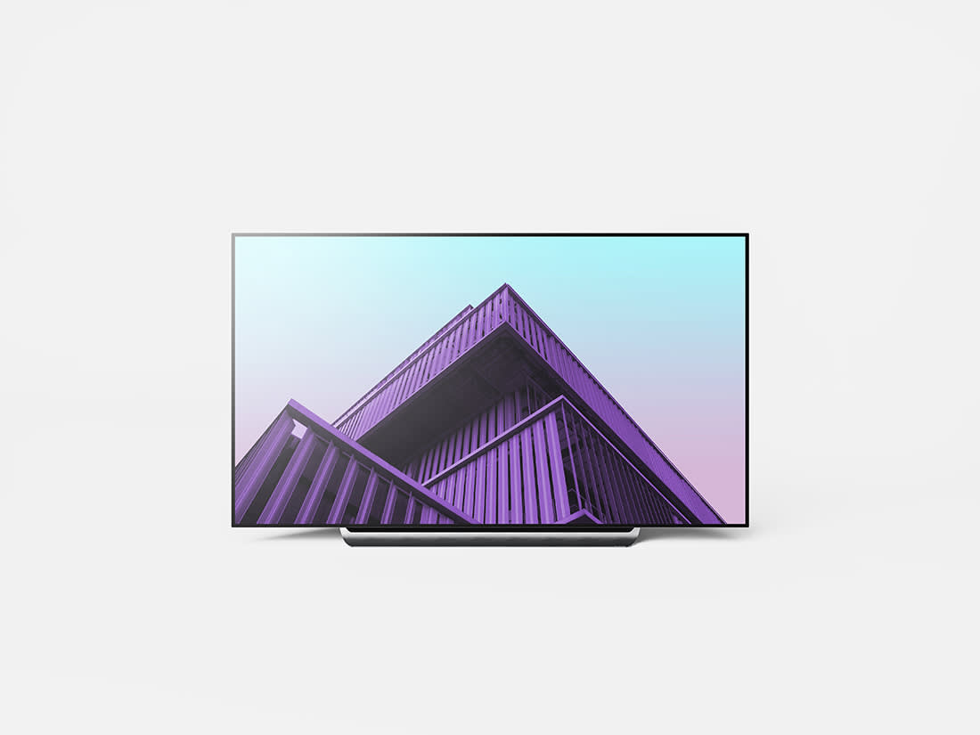 LG OLED 4K TV Mockup by Anthony Boyd Graphics
