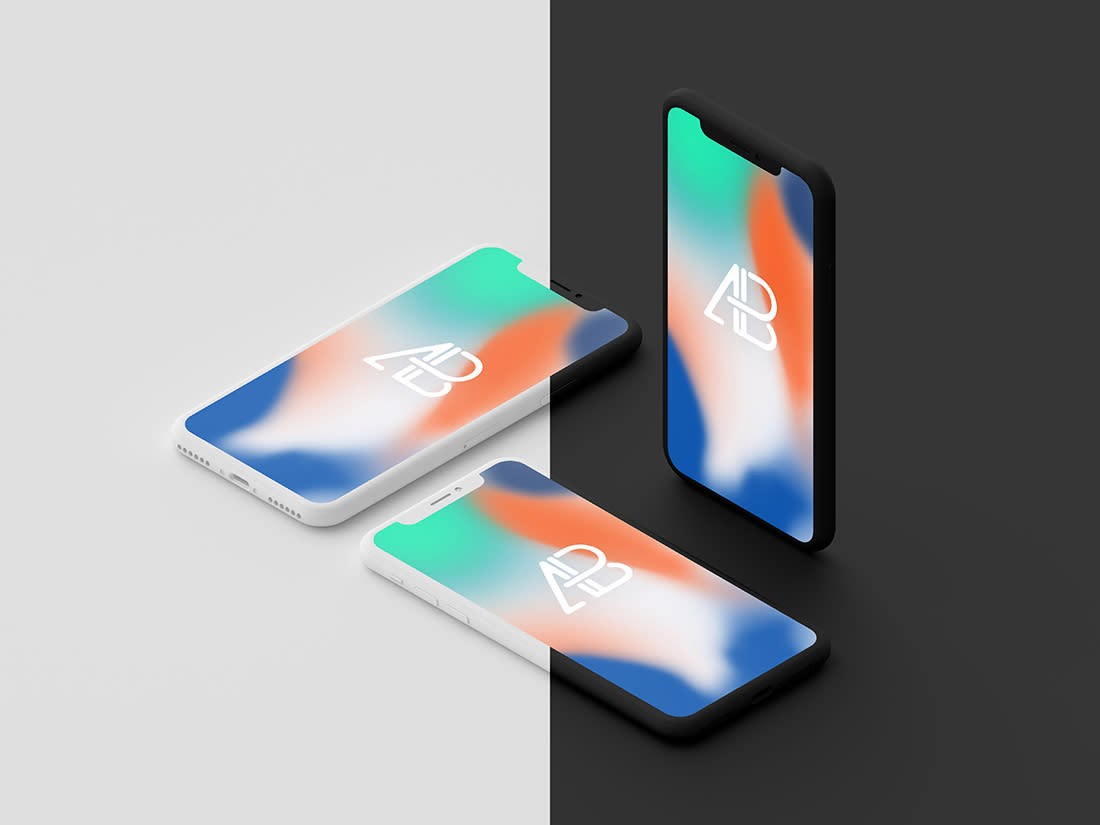 Clay iPhone X Mockup Vol.2 by Anthony Boyd Graphics