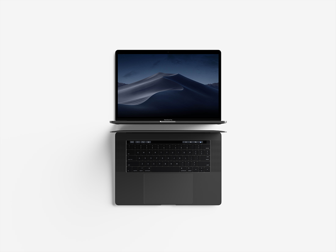 Modern Top View Macbook Pro Mockup Pack by Anthony Boyd Graphics