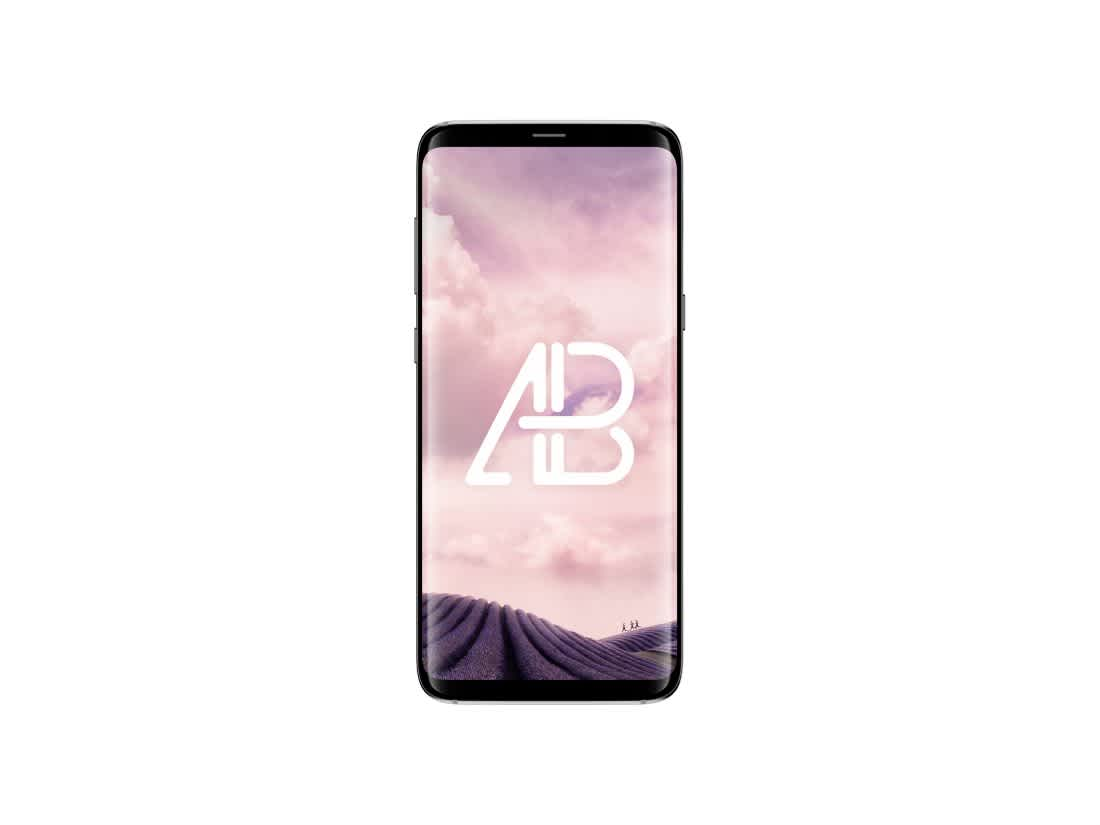 Samsung Galaxy S8 Plus Front View Mockup by Anthony Boyd Graphics