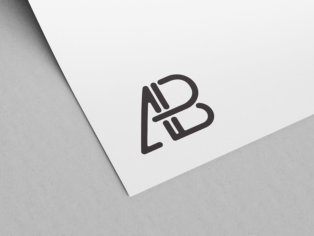 Paper Logo Mockup Vol 2 by Anthony Boyd Graphics