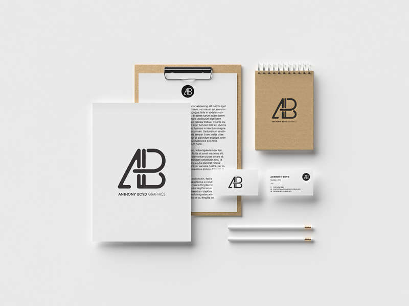 Modern Branding Identity Mockup Vol 2 by Anthony Boyd Graphics