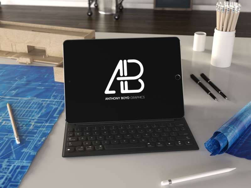 Realistic iPad Pro Mockup Vol.4 by Anthony Boyd Graphics