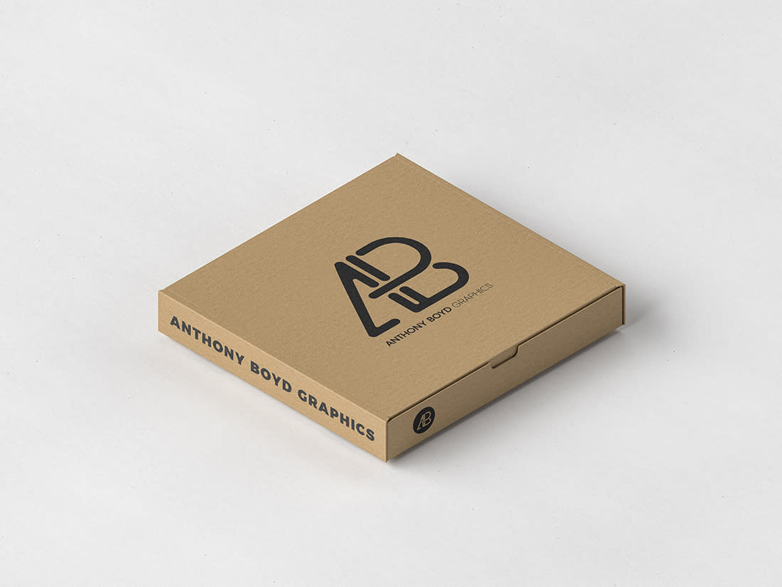 Pizza Box Packaging Mockup by Anthony Boyd Graphics