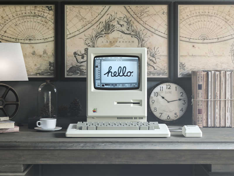 1984 Apple Macintosh Mockup by Anthony Boyd Graphics