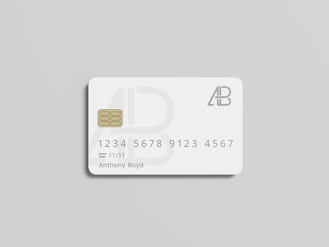 Credit Card Mockup by Anthony Boyd Graphics