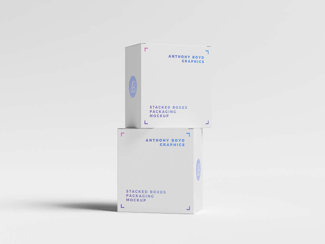 Stacked Boxes Packaging Mockup by Anthony Boyd Graphics