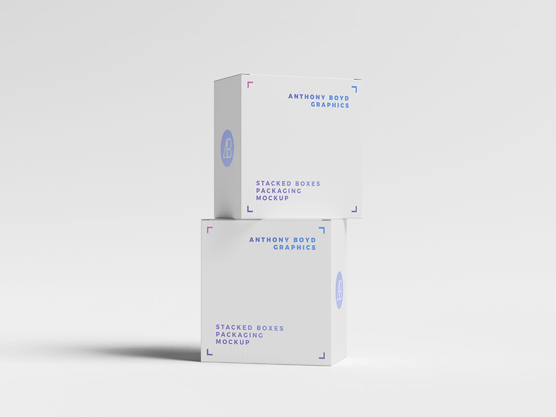 Stacked Boxes Packaging Mockup Anthony Boyd Graphics