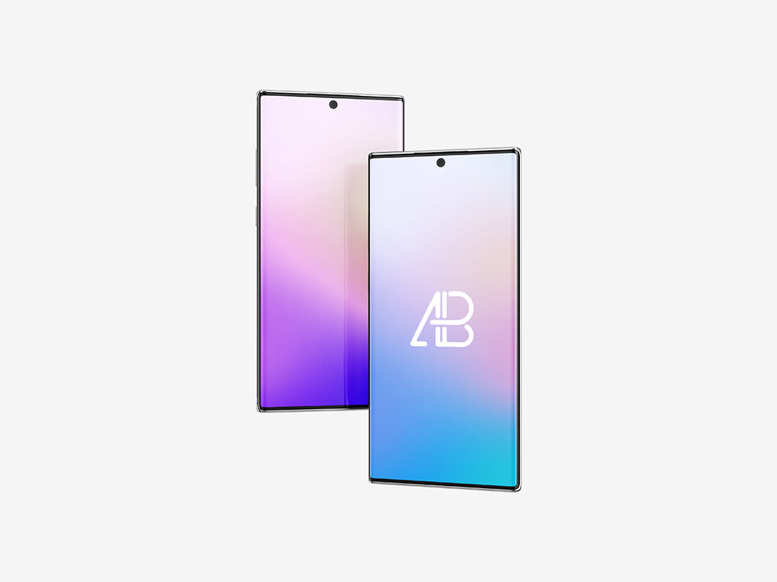 Floating Samsung Galaxy Note 10 Pro Mockup by Anthony Boyd Graphics