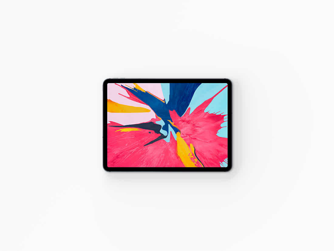 Top View iPad Pro 2018 Mockup by Anthony Boyd Graphics
