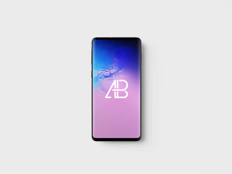 Samsung Galaxy S10 Top View Mockup by Anthony Boyd Graphics