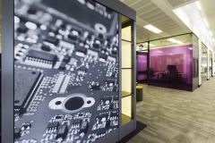 Rolls Royce Meeting Room With Circuit Board Graphic