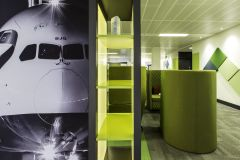 Rolls Royce Green Booth With Plane Nose Graphic