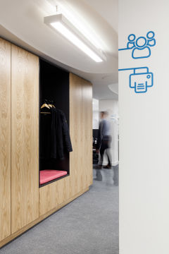 OFSTED Wood Coat Storage With Icon Graphic
