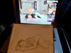 SB - Artists in Residence - Lily Lays with Sketch and Screen