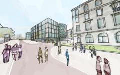 Leeds Beckett Sketch View Of City Campus
