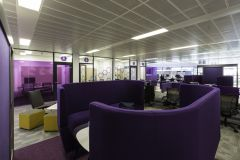 Rolls Royce Purple Breakout Booth With Meeting Rooms