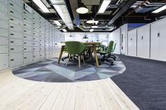 MOJ 10SC Wooden Flooring With Oval And Exposed Ductwork