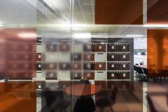 Rolls Royce Red Lockers Through Meeting Room Glass