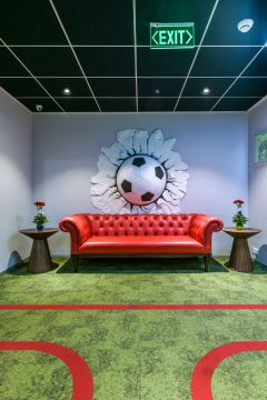 Sony Mumbai Sofa with Football