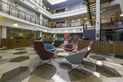 DfE Cheylesmore House - Soft Seating in base of Atrium Space