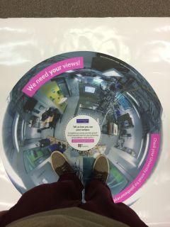 The University Of Manchester MECD Floor Sticker
