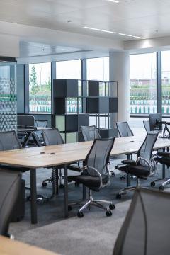 Meggitt - open office space with shelving