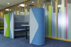 DfE Cheylesmore House - Coloured Manifestation and bright booths