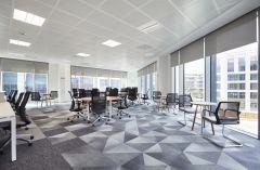 MOJ Leeds Office Area with Triangular Carpet Tiles