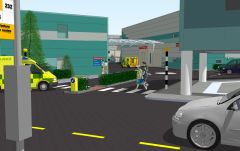 BBC Drama Production Village Casualty Set Render