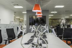 OFWAT Red Task Chairs & Lamps