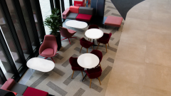 ARCO - Red reception chairs
