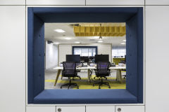 BNY Mellon Blue Seating Cubby