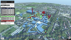 Hull Uni - Full Campus Unity Model - view showing the different types of space across the uni