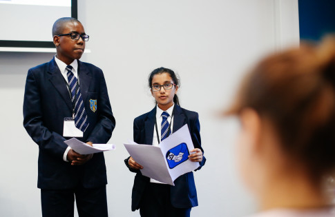 Photo - Luton students presenting