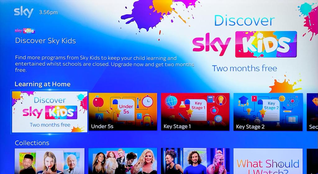 sky q learning at home