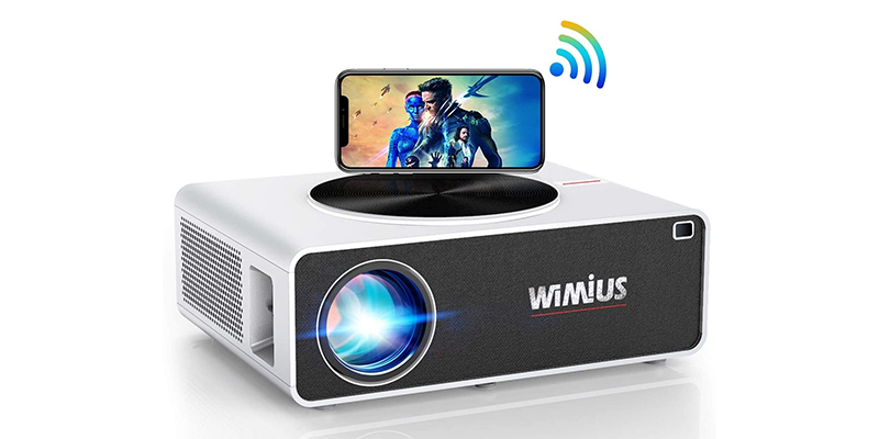 "WiFi Projector, WiMiUS K3 7000 Lumen Video Projector Native 1920x1080 Full HD LED Projector Support 4K 300"" Display"