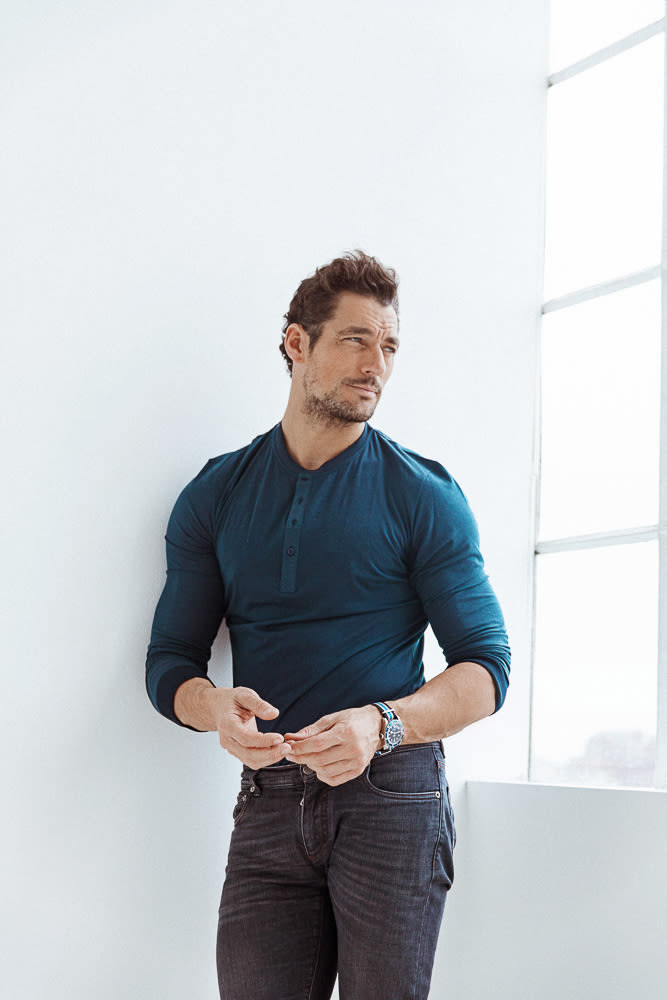 Model David Gandy On Mens Skincare Into The Gloss