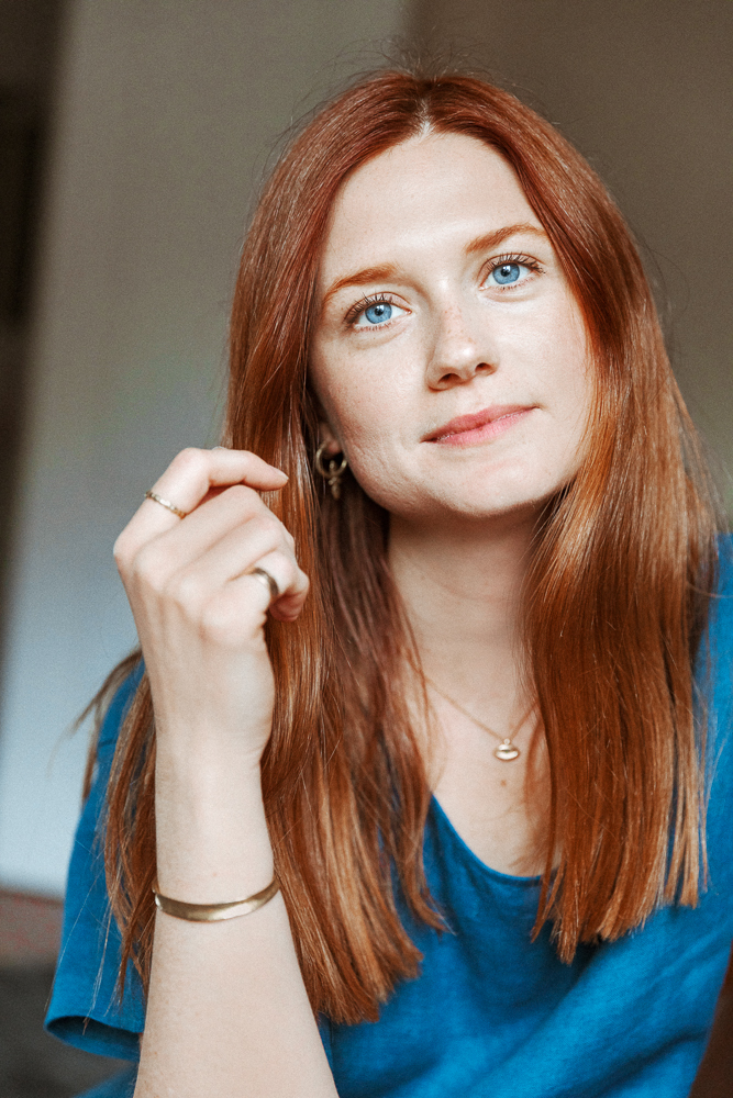 Harry Potter S Bonnie Wright On Red Haircare Into The Gloss