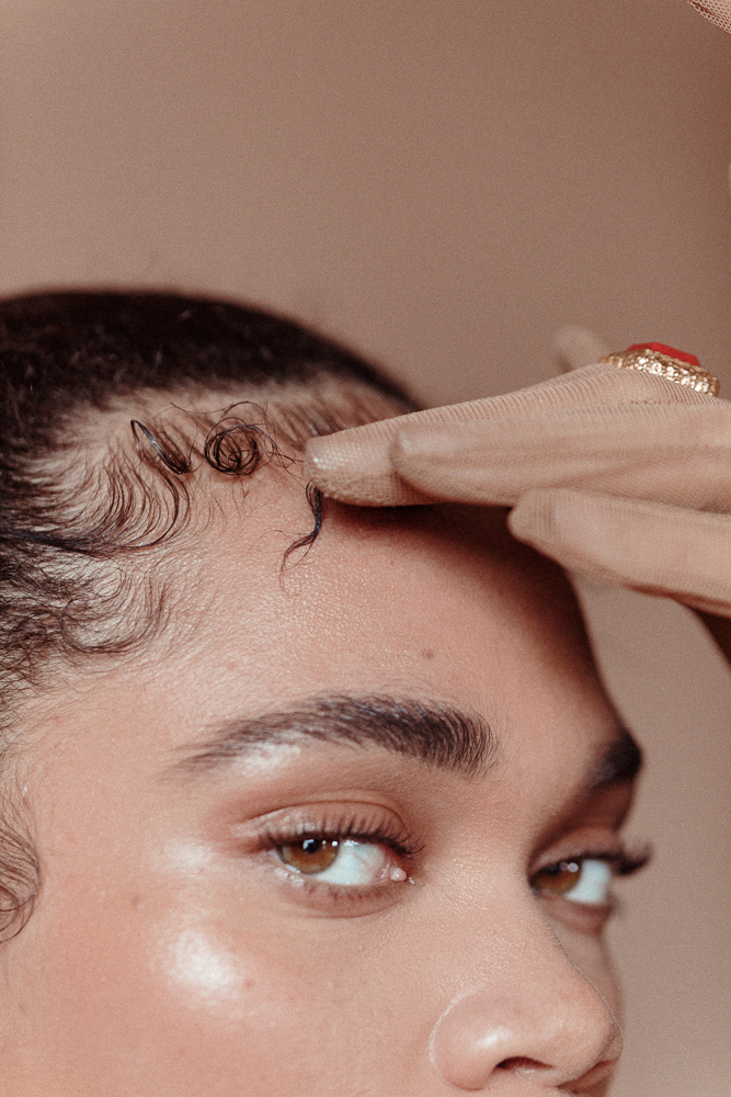 How To Style Your Baby Hairs Into The Gloss