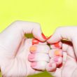 Elizabeth Brockway Orange and PInk Manicure