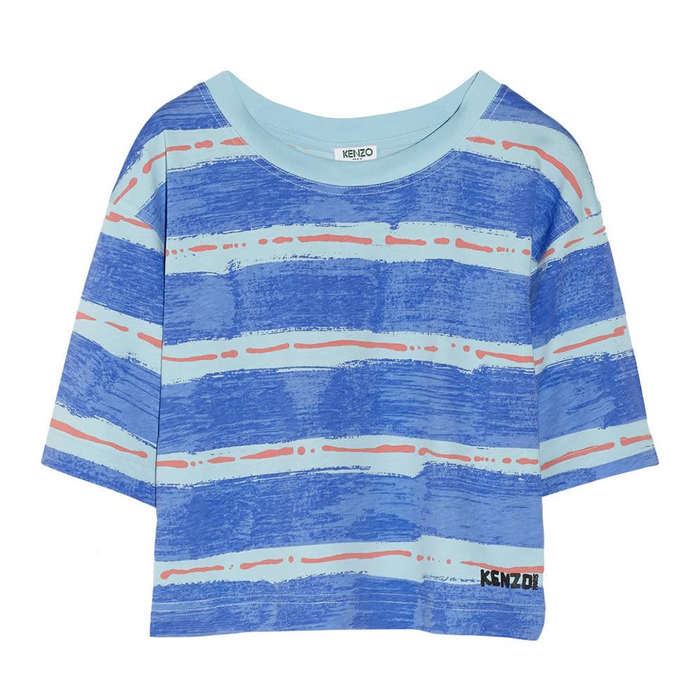6efc4c444135b Kenzo Cropped Printed Cotton-Jersey T-Shirt
